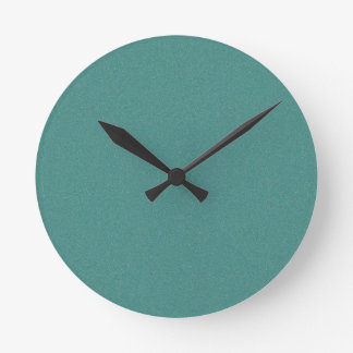 Celadon Green Star Dust Round Clock