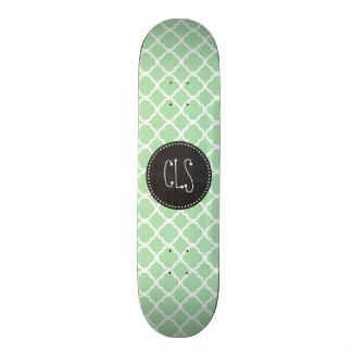 Celadon Quatrefoil; Chalkboard look Skateboard Decks