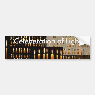 Celeberation of Love and Light Car Bumper Sticker