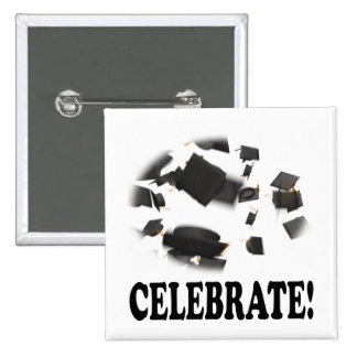 Celebrate 15 Cm Square Badge