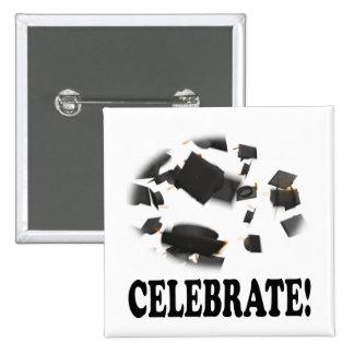 Celebrate 15 Cm Square Badge