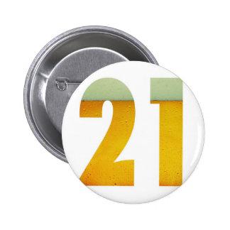 Celebrate 21st Birthday 6 Cm Round Badge