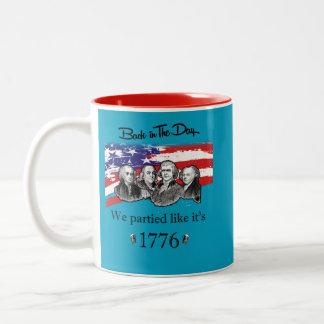 Celebrate 4th of July Two-Tone Coffee Mug