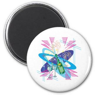 Celebrate 6 Cm Round Magnet