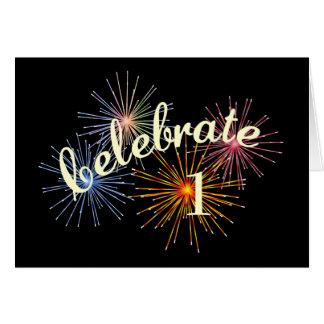 Celebrate a 1st Anniversary Card