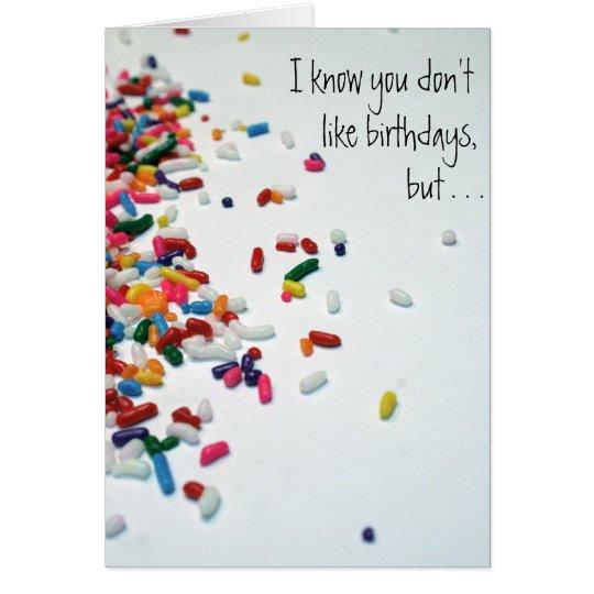 Celebrate a little! notecard