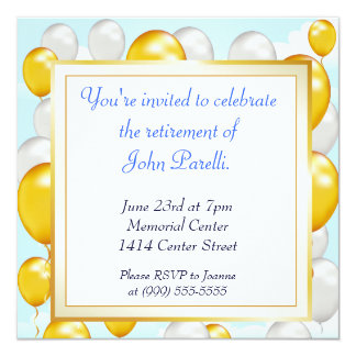 Celebrate a Retirement 13 Cm X 13 Cm Square Invitation Card