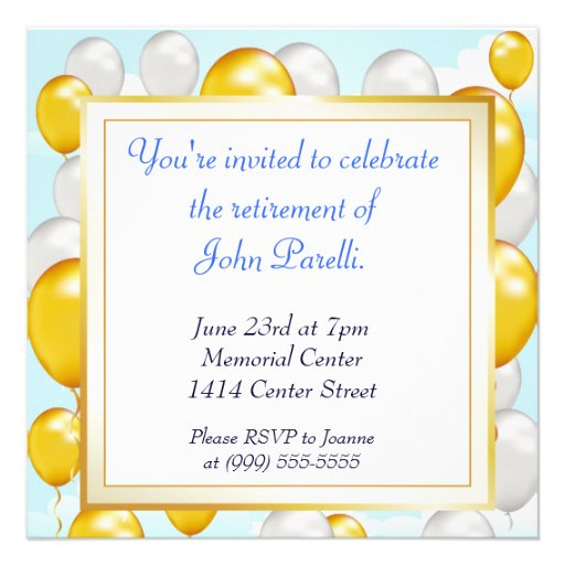 Celebrate a Retirement Custom Invites
