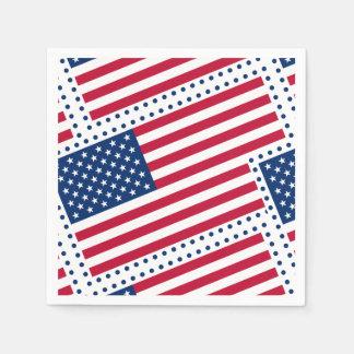 Celebrate American US Flag Disposable Serviettes