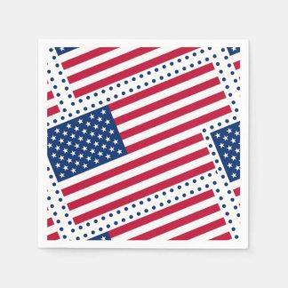 Celebrate American US Flag Paper Serviettes