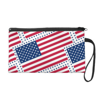 Celebrate American US Flag Wristlets