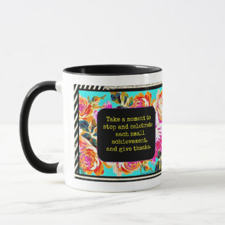 Celebrate and Give Thanks flower mug