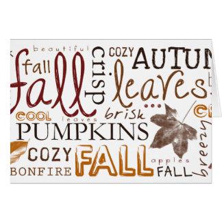 Celebrate Autumn Thanksgiving greetings Card