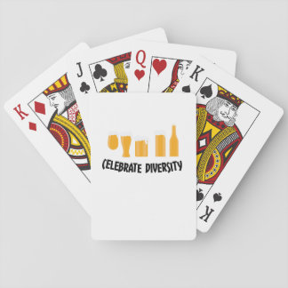 Celebrate Beer Diversity Funny  Drinker Gifts Playing Cards