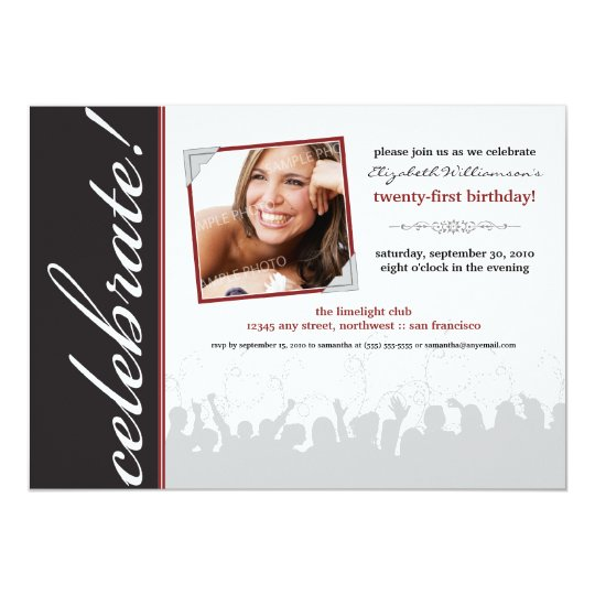 Celebrate! Birthday Party Invitation (black)