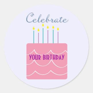 Celebrate Birthday Stickers