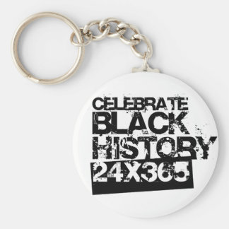 CELEBRATE BLACK HISTORY 24x365 Basic Round Button Key Ring