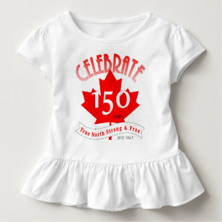 Celebrate Canada 150 Years Toddler T-Shirt
