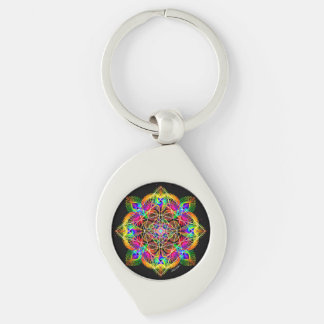 Celebrate Change Silver-Colored Swirl Key Ring