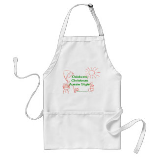 Celebrate Christmas Aussie Style! red/green Standard Apron