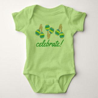 Celebrate Cinco de Mayo Mexican Fiesta Maracas Baby Bodysuit