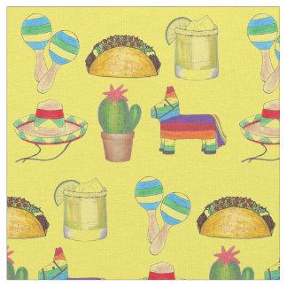 Celebrate Cinco de Mayo Mexico Mexican Print Fabric