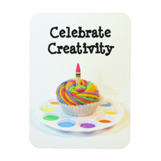 Celebrate Creativity Cupcake Rectangular Photo Magnet