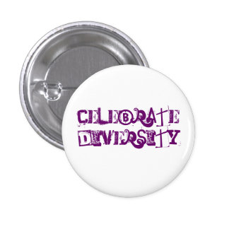 Celebrate Diversity 3 Cm Round Badge