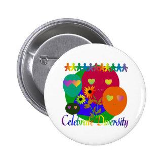 Celebrate Diversity 6 Cm Round Badge