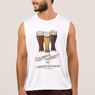 Celebrate Diversity Consume All Flavors Beer Lover Singlet