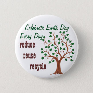 Celebrate Earth Day - Customizable Pin