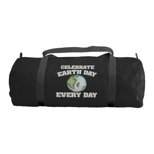 Celebrate earth day every day gym duffel bag