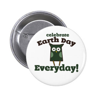 Celebrate Earth Day Everyday Owl Pins