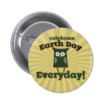 Celebrate Earth Day Everyday Owl Badge