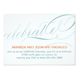 "Celebrate Engagment Party Invitations 5"" X 7"" Invitation Card"