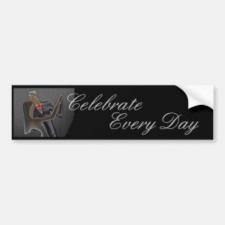 Celebrate Every Day bride groom bumpersticker Car Bumper Sticker