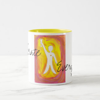 Celebrate Everyday! Two-Tone Coffee Mug