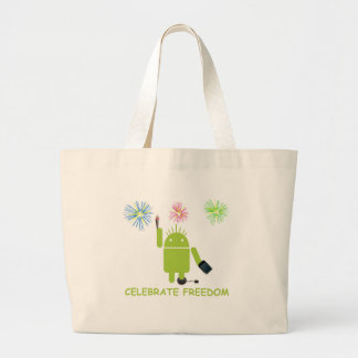 Celebrate Freedom (Android Software Developer) Jumbo Tote Bag