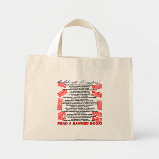 Celebrate Freedom!  Read a BANNED Book! (stamp) Mini Tote Bag