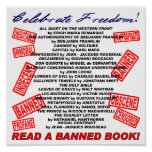 Celebrate Freedom!  Read a BANNED Book! (stamp) Poster
