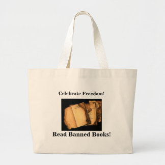 Celebrate Freedom!, Read Banned Books Large Tote Bag