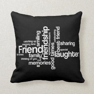 Celebrate Friendship Black Square Pillow