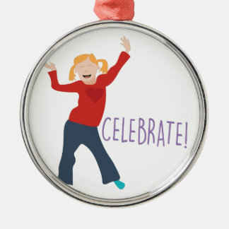 Celebrate Girl Metal Ornament