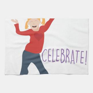 Celebrate Girl Tea Towel
