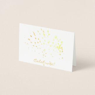 Celebrate!  Gold Foil Mini Card