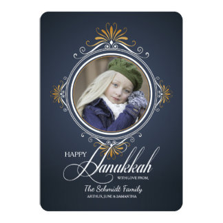 Celebrate Hanukkah Holiday Photo Card