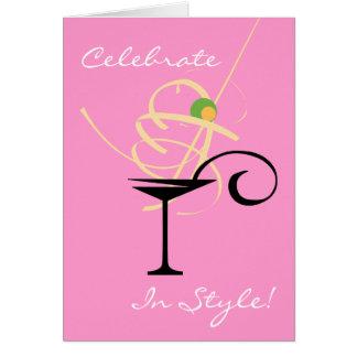 Celebrate In Style Martini Birthday Card