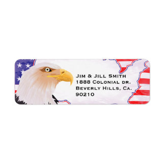 Celebrate Independence Eagle Return Address Label