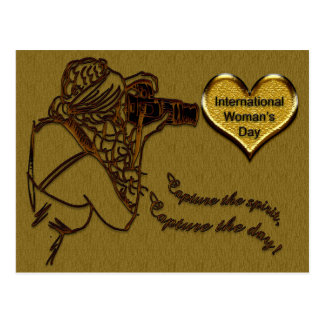 Celebrate - International Woman's Day Postcard
