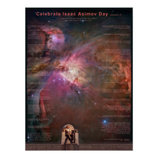Celebrate Isaac Asimov Day Poster
